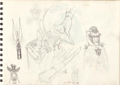 Page croquis crayon sur papier 29,7 x 21 cm 2011