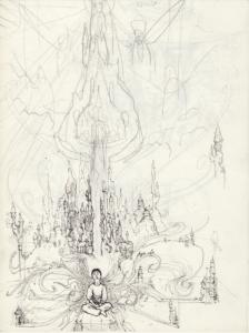 croquis préparatoire pour dessin de diéte de coca stylo noir et crayon sur papier 29,7 x 21 cm 2012 représentant l'artiste Teddy Ros et sa diète de coca