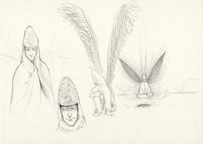 Page croquis stylo noir et crayon sur papier 29,7 x 21 cm 2011