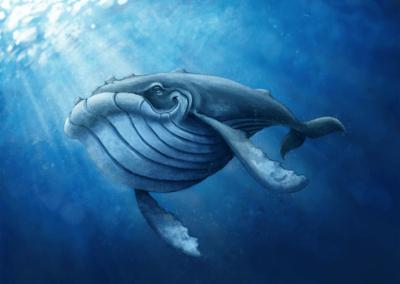 """Baleine-1"" 2017 digital painting photoshop"