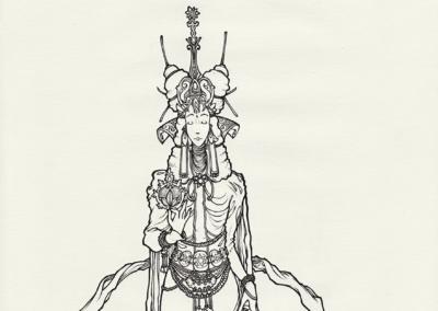 """""""esprit-coca"""" 2011, stylo noir sur papier, 29,7 x 21 cm"""