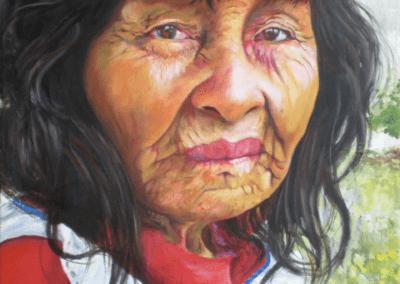"""""""olivia"""" 2012 peinture à l'huile sur toile 60 x 30 cm"""