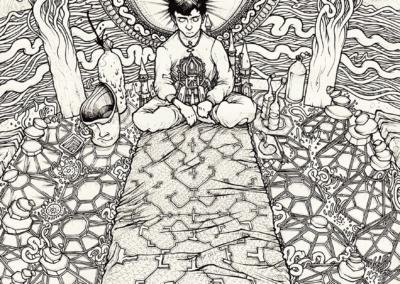 """""""Début de session"""" 2011, stylo noir sur papier, 29,7 x 21 cm"""