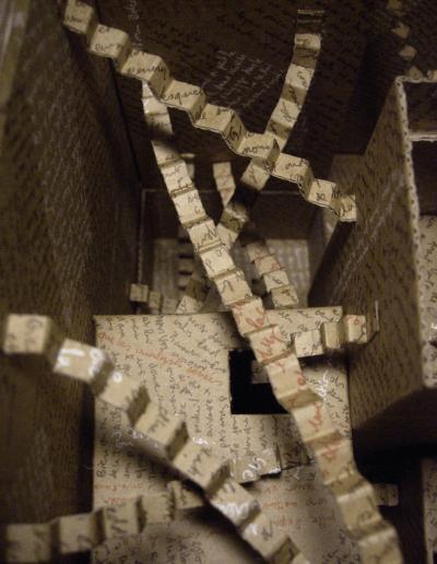 """""""Mise en boite de la pensée-4"""" 2007"""