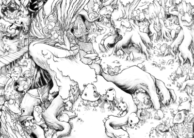 """""""Foresta"""" 2015, crayon sur papier, 84,1 x 59,4 cm"""