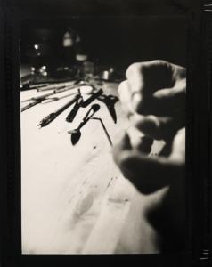 """""""Oto Bio Grafik"""" livre réaliser entièrement à la main par l'artiste Teddy Ros sur le thème de l'autoportrait, collage photo, pellicule super 8, agrafes ongles, scotch acrylique carton et papier"""