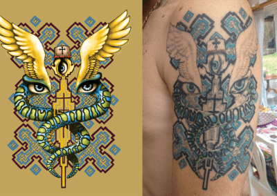 dessin pour tatouage pour benjamin, 2013, photoshop