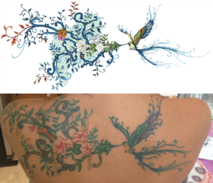dessin pour tatouage pour Erykha, photoshop 2012
