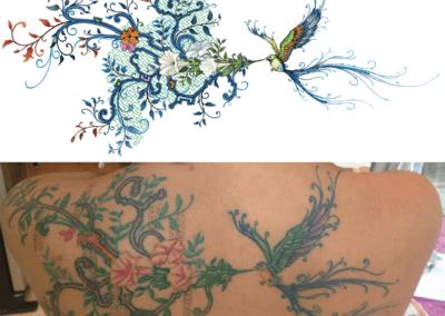 dessin pour tatouage pour Ehryka, photoshop