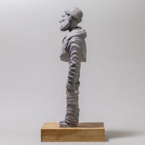 "photo of the sculpture ""de JP"" 2018 the original, supersculpley, made by the artist Teddy Ros"