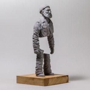 """photo de la sculpture """"le pêcheur de JP"""" 2018 l'original, supersculpley, réaliser par l'artiste Teddy Ros"""