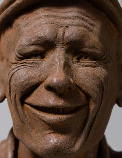 """mr smile"" 2018 tirage résine polyuréthane patine oxydation forte"