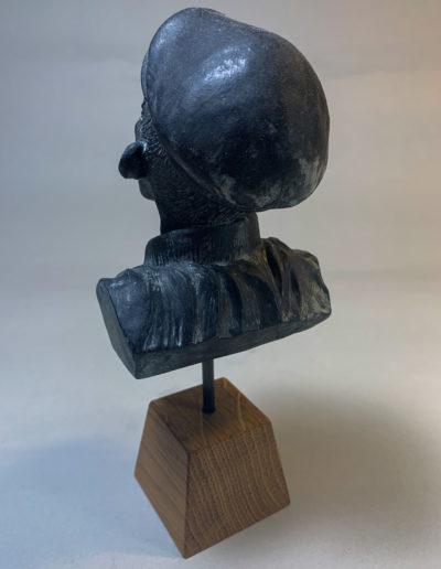 """mr smile"" 2018 tirage résine polyuréthane patine bronze bleu"