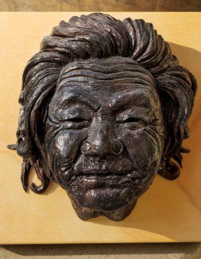 "sculpture ""Mamy Smille"" 2019, tirage résine bronze."